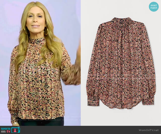 Wide-Cut Blouse by H&M worn by Jill Martin  on Today