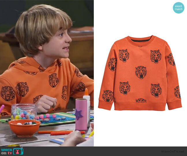 Printed Sweatshirt by H&M worn by Finn Sawyer (Will Buie Jr) on Bunkd