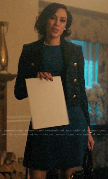 Hermosa's blue tweed jacket on Riverdale