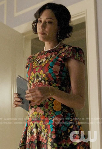 Hermosa's kaleidoscope floral print dress on Riverdale