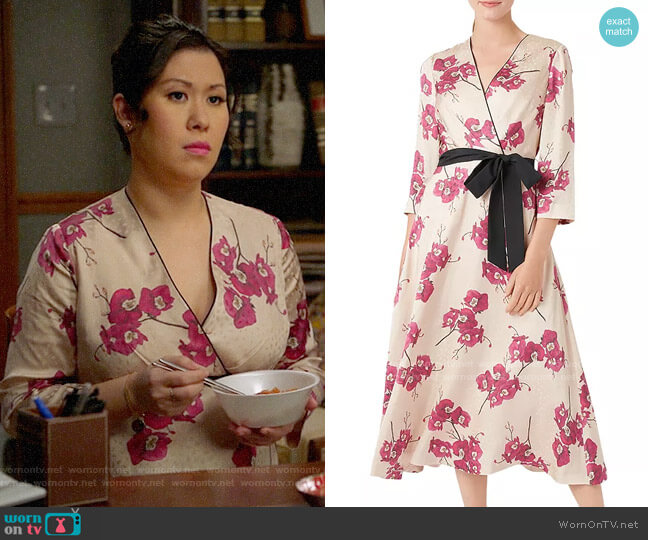 Hobbs London Nina Floral Faux-Wrap Dress worn by Sherri Kansky (Ruthie Ann Miles) on All Rise