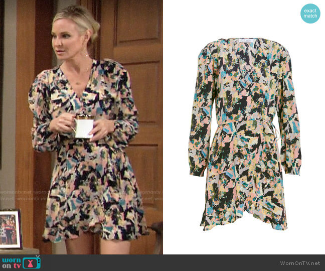 IRO Bloomy Dress worn by Sharon Collins (Sharon Case) on The Young & the Restless