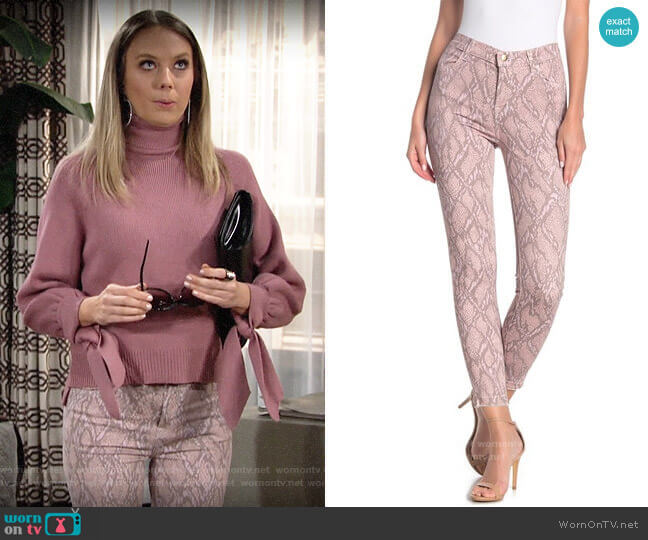J Brand Alana Jeans in Adder worn by Abby Newman (Melissa Ordway) on The Young & the Restless