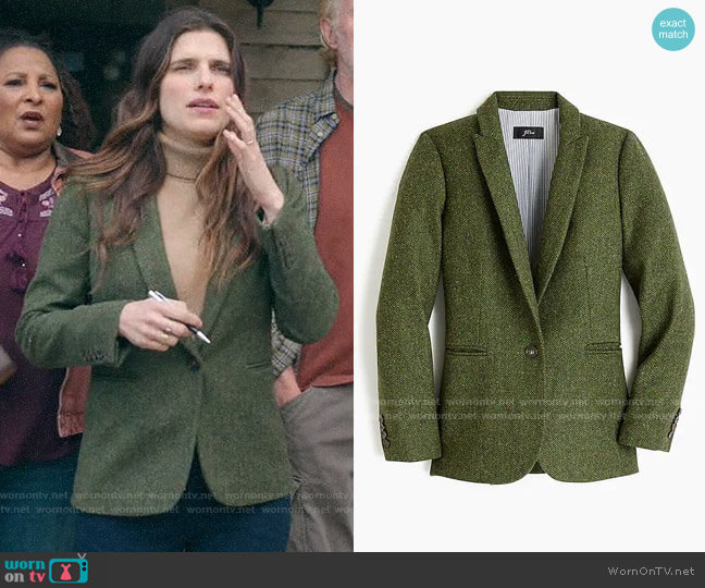 J. Crew Parke Blazer in English Wool worn by Rio (Lake Bell) on Bless This Mess