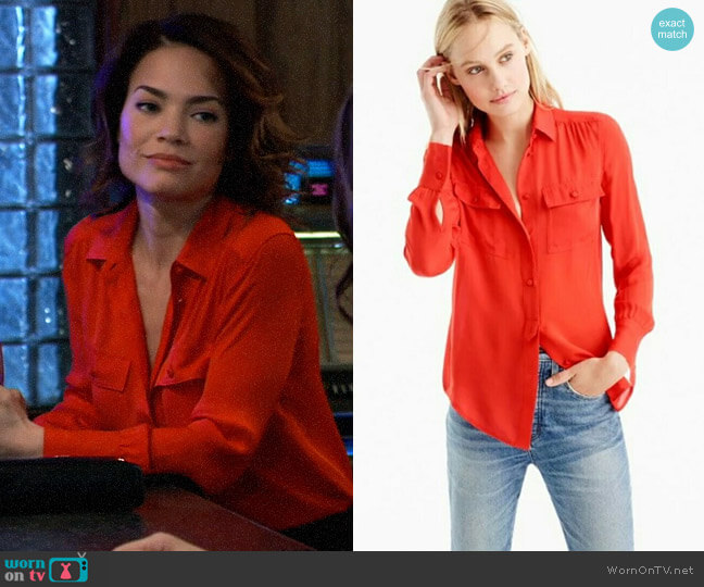J. Crew Blythe Top worn by Elizabeth Webber (Rebecca Herbst) on General Hospital