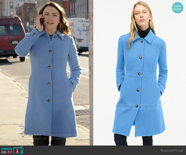 J. Crew Classic Lady Day Cot in Deep Peri W worn by Cara Bloom (Violett Beane) on God Friended Me
