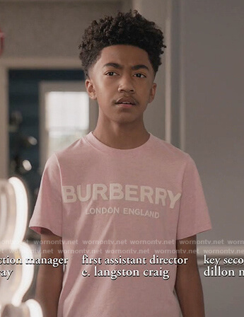 Jack's pink Burberry tee on Black-ish
