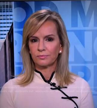 Dr. Jennifer Ashton's white contrast trim top on Good Morning America