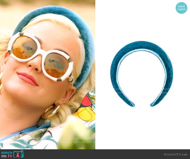 Thada Velvet Headband by Jennifer Behr worn by Katy Perry  on American Idol