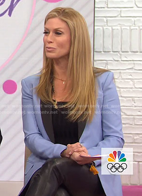 Jill's blue contrast lapel blazer on Today