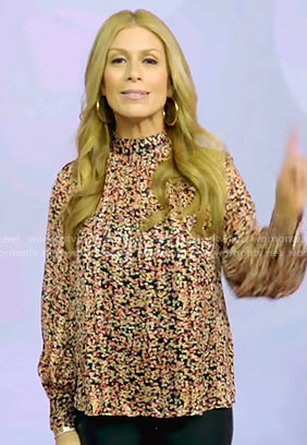 Jill's floral mock neck blouse on Today