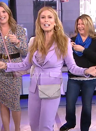 Jill's lilac button-sleeve jacket and pants on Today