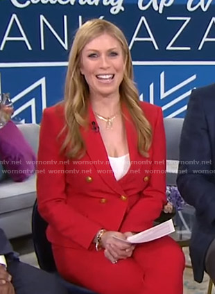 Jill's red double breasted blazer on Today