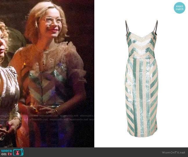 Johanna Ortiz Sequin Stripes Dress worn by Pepper Smith (Julia Chan) on Katy Keene
