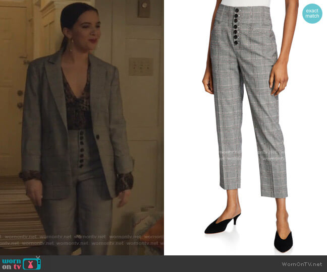 Abony Cropped Button-Front Pants by Joie worn by Jane Sloan (Katie Stevens) on The Bold Type