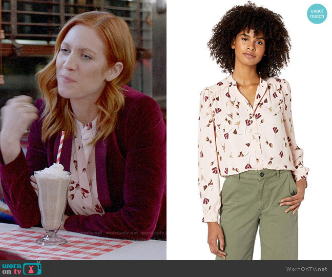 Joie Myella Blouse worn by Julia Bechley (Brittany Snow) on Almost Family