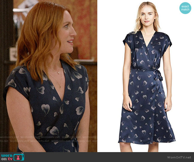 Joie Bethwyn Dress worn by Julia Bechley (Brittany Snow) on Almost Family