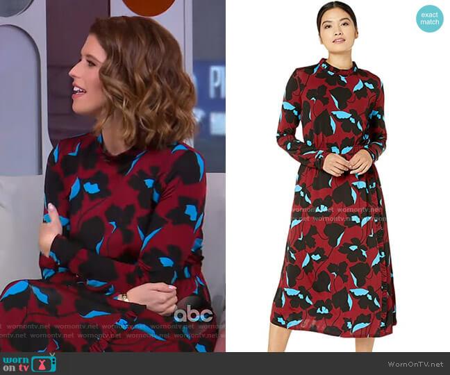 City Blooms Knit Dress by Kate Spade worn by Katherine Schwarzenegger on GMA