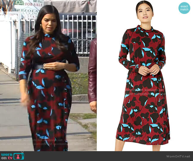 City Blooms Knit Dress by Kate Spade worn by America Ferrera on CBS This Morning