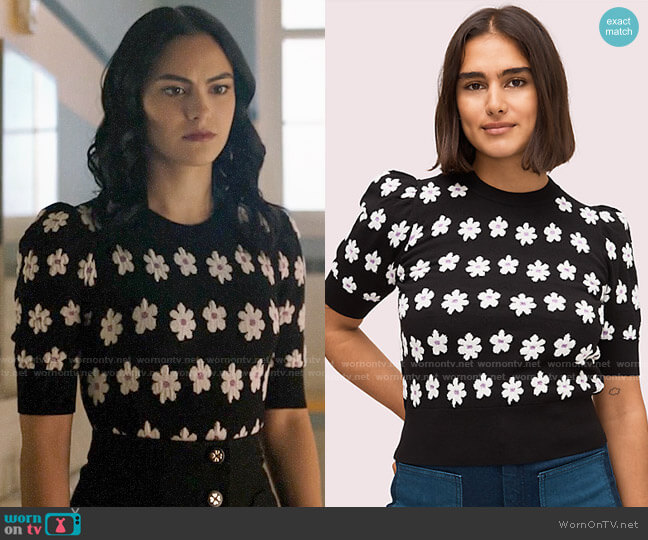 Kate Spade Marker Floral Sweater worn by Veronica Lodge (Camila Mendes) on Riverdale