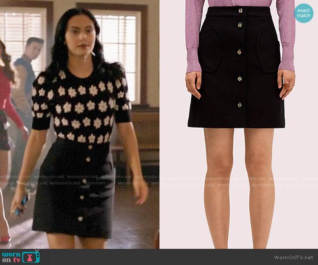 Kate Spade Spade Pocket Skirt worn by Veronica Lodge (Camila Mendes) on Riverdale