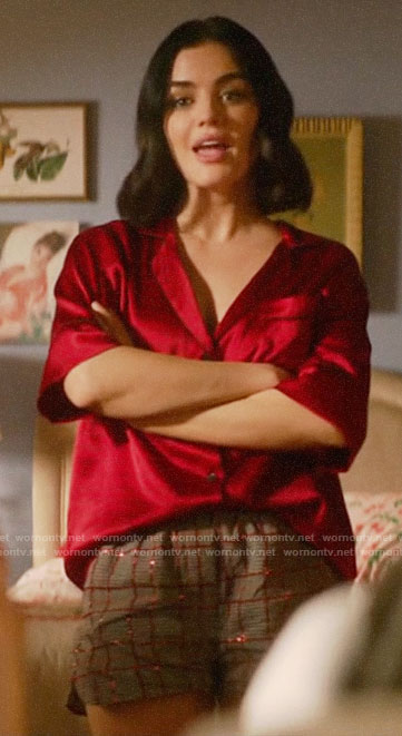 Katy's red pajama shirt on Katy Keene
