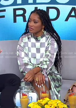 Keke's checkerboard dress on GMA Strahan Sara And Keke