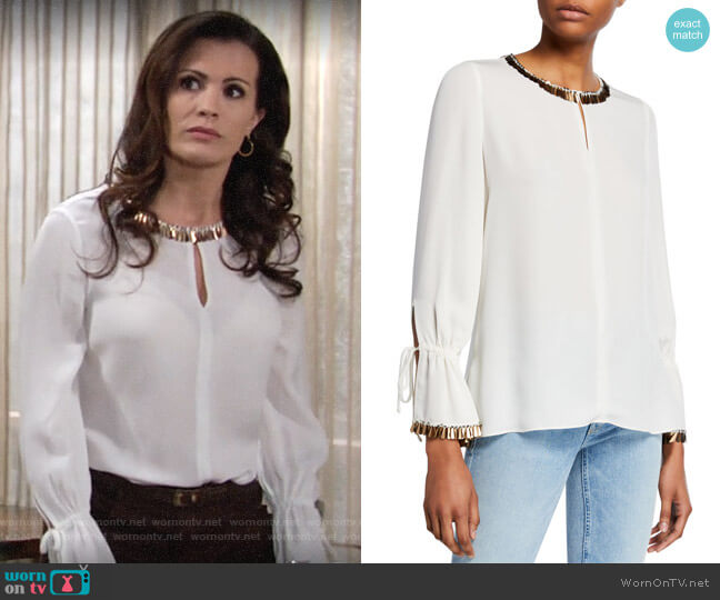 Kobi Halperin Juliette Blouse worn by Chelsea Lawson (Melissa Claire Egan) on The Young & the Restless