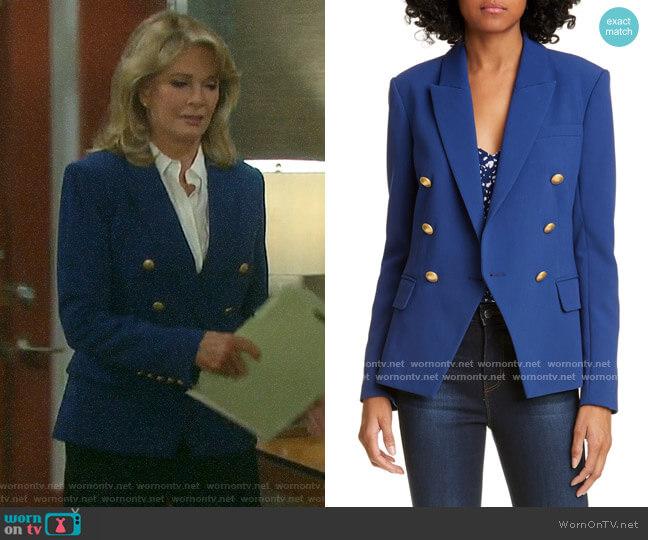 L'Agence Kenzie Blazer worn by Marlena Evans (Deidre Hall) on Days of our Lives