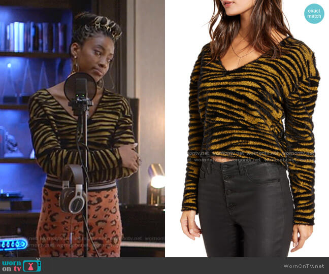 Tiger Stripe Pullover by Leith worn by Yana (Kiandra Richardson) on Empire