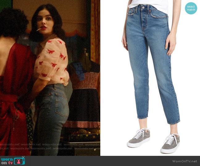 Levis Wedgie Icon Fit High Waist Ankle Jeans worn by Katy Keene (Lucy Hale) on Katy Keene