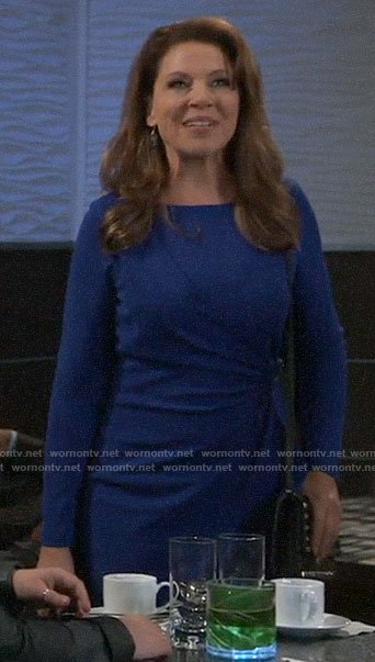 Liesl's blue long sleeved dress on General Hospital