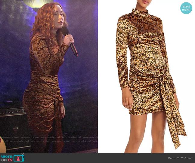 Likely Khaleesi Tie-Detail Animal-Print Dress worn by Mariah Copeland (Camryn Grimes) on The Young & the Restless
