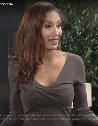 Lily's twist-bust dress on The Young and the Restless