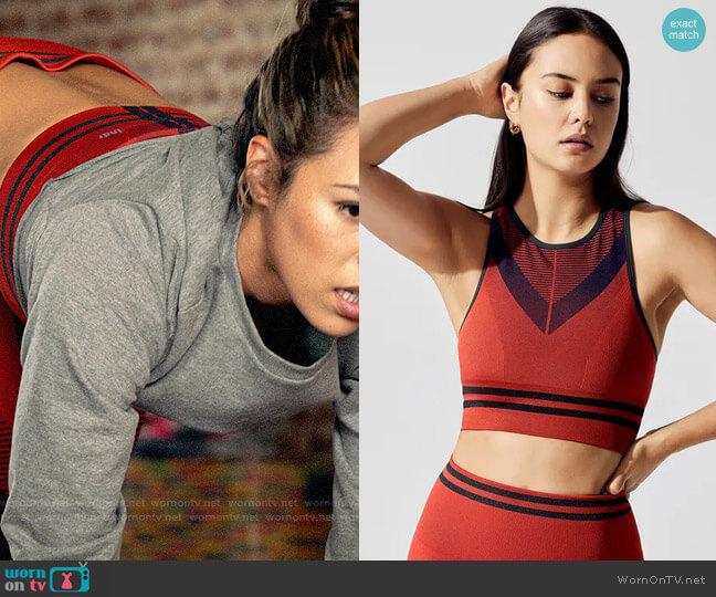 LNDR Skylark Sports Bra worn by Emily Lopez (Jessica Camacho) on All Rise