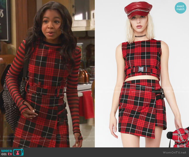 Courtney Clip It Tank and Wrap It Skirt by Love Too True at Dolls Kill worn by Nia Baxter (Navia Robinson) on Ravens Home