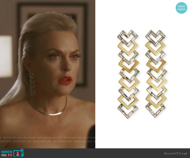Adore Statement Earrings by Lulu Frost worn by Alexis Carrington (Elaine Hendrix) on Dynasty