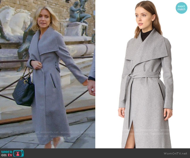 Mackage Mai Coat in Light Grey worn by Kristin Cavallari  on Very Cavallari