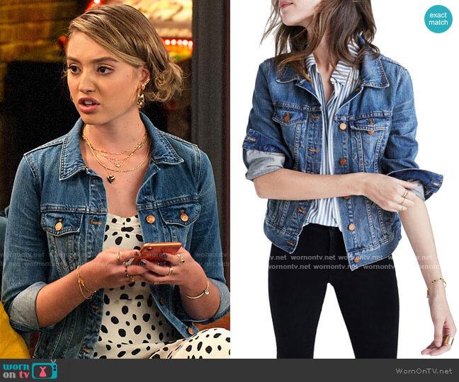 Madewell Denim Jacket worn by Brooke Bishop (Bella Podaras) on The Expanding Universe of Ashley Garcia