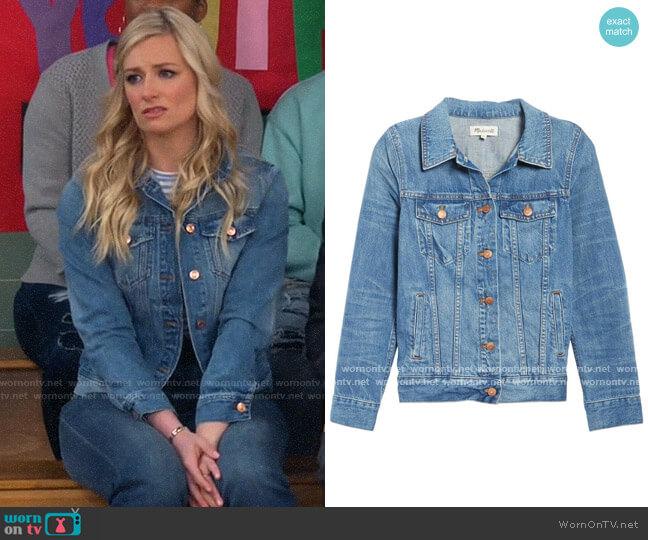 Madewell Denim Jacket worn by Gemma (Beth Behrs) on The Neighborhood