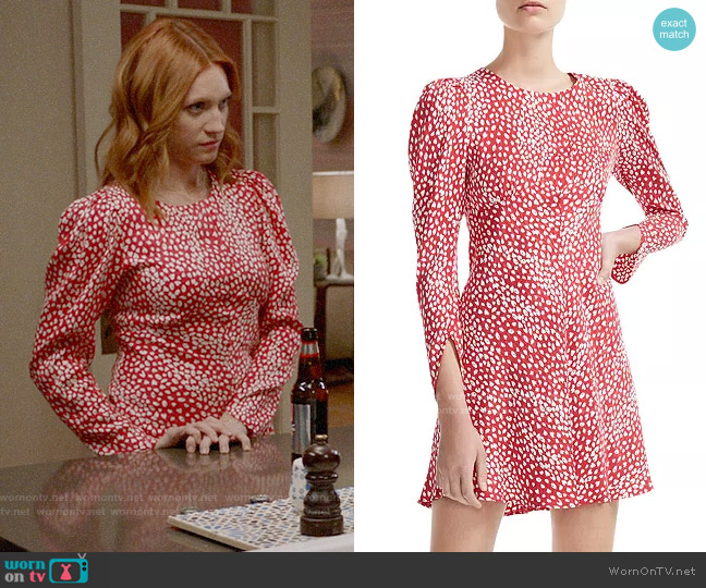 Maje Romie Dress worn by Julia Bechley (Brittany Snow) on Almost Family