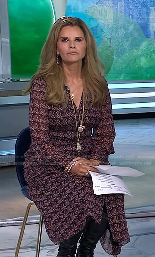 Maria's printed v-neck dress on Today