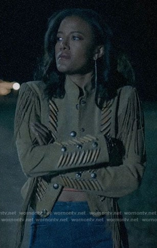 Maria's suede fringed jacket on Roswell New Mexico