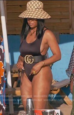 Marlo Hampton's black swimsuit on The Real Housewives of Atlanta