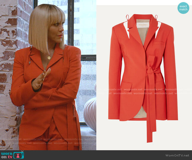 Cutout Belted Wool-Blend Blazer by Materiel worn by Giselle (Nicole Ari Parker) on Empire