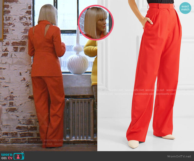 Wool-Blend Wide-Leg Pants by Materiel worn by Giselle (Nicole Ari Parker) on Empire