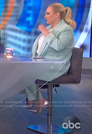 Meghan's mint blazer and pants on The View