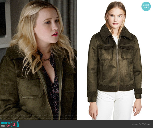 Mother The Four Corners Bomber Jacket worn by Roxy Doyle (Emily Osment) on Almost Family