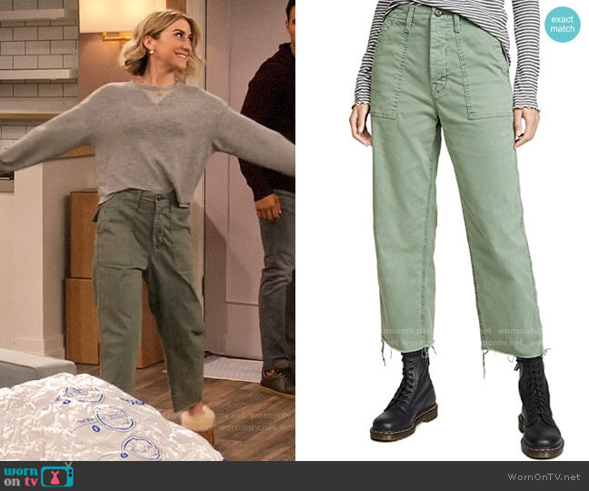Mother The Patch Pocket Private Ankle Fray Pants worn by Ava Germaine (Chelsea Kane) on The Expanding Universe of Ashley Garcia