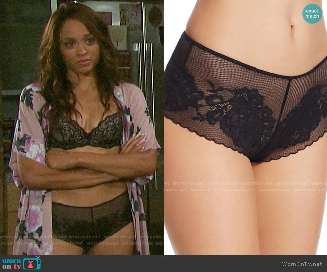 Natori Flora Girl Briefs worn by Lani Price (Sal Stowers) on Days of our Lives